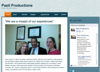 Pazit Productions on self-hosted with WordPress.org