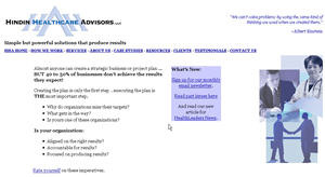 Hindin Healthcare Advisors - before