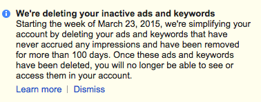 Google AdWords Spring Clean