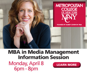Metropolitan College of New York Banner for Creative Partners