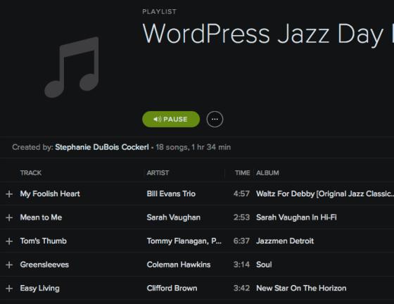 WordPress Jazz Sessions